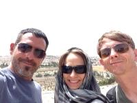 Selfie on top The Mount Of Olives - Eddie, Ed, Shannan - June 4th '2014